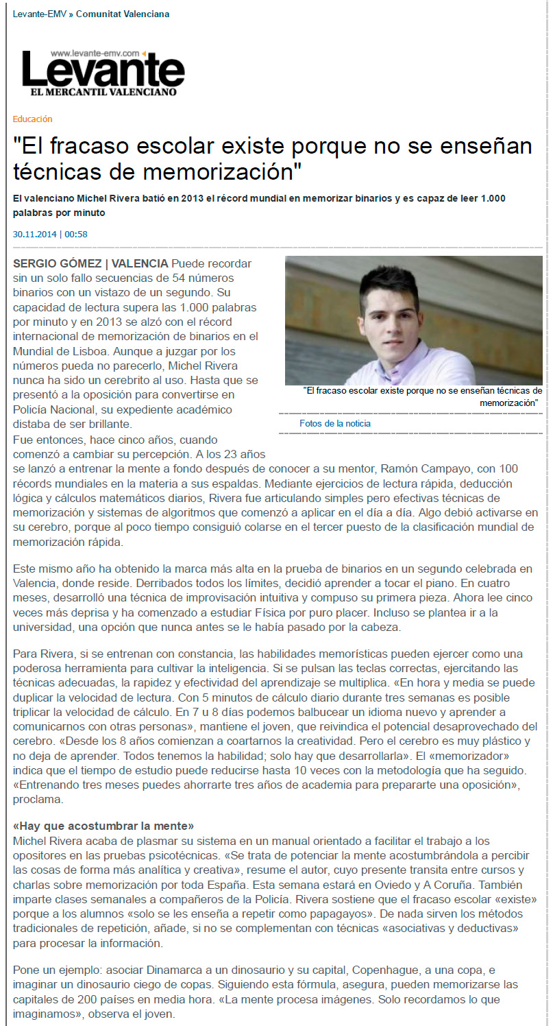 Míchel Rivera en Levante