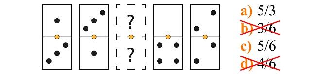 Psicotécnico de dominó explicado paso 1