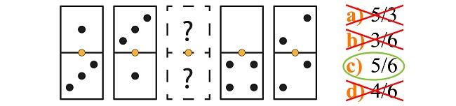 Psicotécnico de dominó explicado paso 2